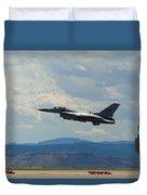 F-16 Tower Duvet Cover