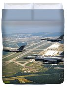F-35 Lightning II Aircraft In Flight Duvet Cover