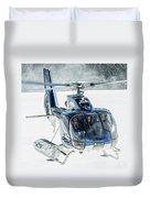 F-hana Eurocopter Ec-130 Helicopter Landing Duvet Cover