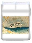 F/v Royal Dawn Tuna Fishing Boat Duvet Cover