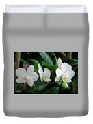 F11 Orchid Flowers Duvet Cover