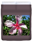 F17 Pink Hibiscus Duvet Cover