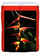 F19 Heliconia Flowers Hawaii Duvet Cover