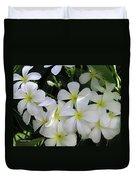 F2 Plumeria Frangipani Flowers Hawaii Duvet Cover