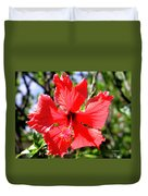 F20 Red Hibiscus Duvet Cover