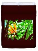 F21 Bird Of Paradise Flower Duvet Cover