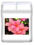 F23 Plumeria Frangipani Flowers Duvet Cover