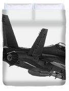Fa-18 In Black And White Duvet Cover
