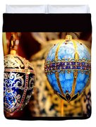 Faberge Holiday Eggs Duvet Cover