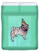 Fabric Pug Duvet Cover