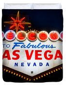 Fabulous Las Vegas Sign Duvet Cover