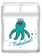 Fabulous Octopus Duvet Cover