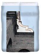 Facade Of La Matriz Church Duvet Cover