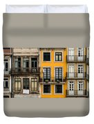 Facades Of Porto Duvet Cover