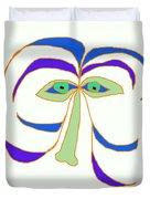 Face 2 On White Duvet Cover