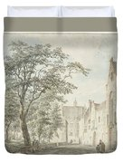 Face In The City Montfoort Duvet Cover