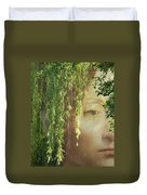 Face In The Willows Duvet Cover