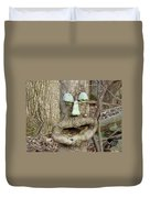 Face In The Woods Duvet Cover