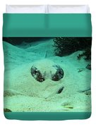 Face Off With Stingray Duvet Cover