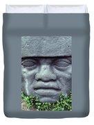 Face On Bali Duvet Cover