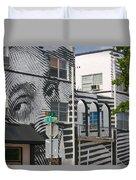Face On House Duvet Cover