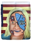 Face Paint And Freedom Duvet Cover