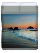 Face Rock Sundown Duvet Cover