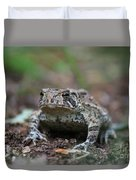 Face To Face With A Fowler Toad  Duvet Cover