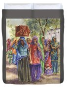 Faces From Across The World Duvet Cover