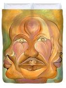 Faces Of Copulation Duvet Cover by Ikahl Beckford