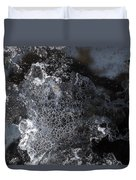 Faces Of Frost Duvet Cover