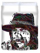 Faces Of Life 18 Charles Bronson Duvet Cover