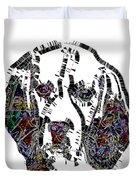 Faces Of Life 37 Beagle Color Duvet Cover