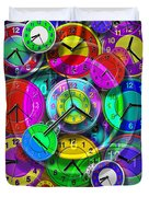 Faces Of Time 1 Duvet Cover