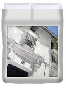 Fachada Andaluza Duvet Cover
