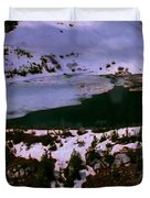 Facinating American Landscape   Snow Mountains Mini Lakes Winter Storms Welcome Trips To Nature Duvet Cover