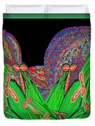 Facination For Cactus Plants And  Flower Duvet Cover