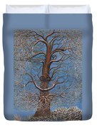 Facing A Frosty Sunset 2010 Duvet Cover