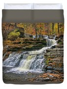 Factory Falls - Childs State Park Duvet Cover