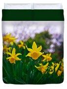 Daffodils Sky Duvet Cover