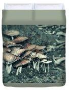 Faded Mushrooms Parade  Duvet Cover