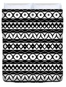 Fair Isle Black And White Duvet Cover