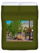 Fairhope Ave With Clock Looking North Up Section Street Duvet Cover