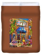Fairmount Bagel Fairmount Street Montreal Duvet Cover