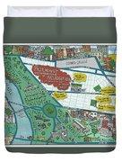 Fairmount Neighborhood Map Duvet Cover