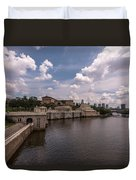 Fairmount Water Works And Philadelphia Museum Of Art Duvet Cover