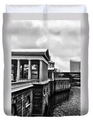 Fairmount Water Works In Black And White Duvet Cover