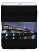 Fairmount Waterworks And Art Museum At Night Duvet Cover