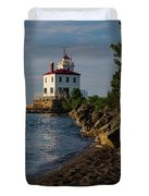 Fairport Harbor Lighthouse Panoramic Duvet Cover