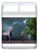 Fairy And Unicorn Duvet Cover